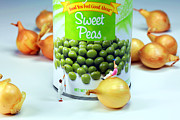 Peas Prints - Painting Sweet Peas Poster Print by Mingqi Ge