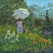 Plein Air Art - Painting the Iris by Donald Maier
