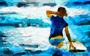 Vincent DiNovici - Painting with a surfer...
