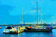 Vincent Dinovici Art - Painting with Boats at Harbourfont Toronto TNM by Vincent DiNovici