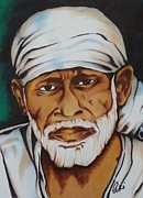 Baba Portrait Paintings - Painting with Markers by Armin Irani