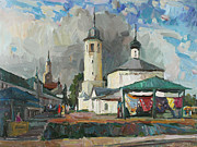 Modern Russian Art Posters - Paints of old Suzdal Poster by Juliya Zhukova