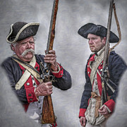 American Revolution Digital Art - Pair of American Revolutionary War Soldiers Portrait by Randy Steele