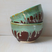 Handmade Ceramics - Pair of Ceramic Tea Cups by Sheila Corbitt