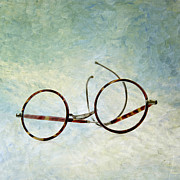 Shot Metal Prints - Pair of glasses Metal Print by Bernard Jaubert
