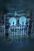 Haunted Hills Prints - Pair of Graves Print by Jill Battaglia