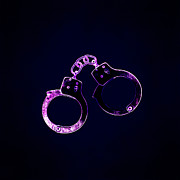 Restraining Framed Prints - Pair Of Handcuffs Framed Print by Kevin Curtis