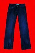Levi Metal Prints - Pair of Jeans 2 - Painterly Metal Print by Wingsdomain Art and Photography