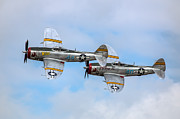 Republic Prints - Pair of P-47s Print by Bill Lindsay