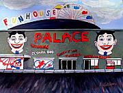 Amusements Painting Originals - Palace Amusements Asbury Park NJ by Norma Tolliver