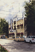 Eureka Springs Painting Prints - Palace Hotel Print by Sam Sidders