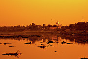 Delhi Metal Prints - Palace In Front Of River In New Delhi Metal Print by - by Kim Schandorff -