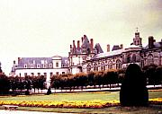Fontainebleau Framed Prints - Palace of Fontainebleau 1955 Framed Print by Will Borden