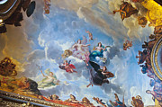 Palace Of Versailles Prints - Palace of Versailles Ceiling Art Print by Jon Berghoff