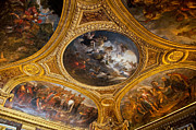 Palace Of Versailles Prints - Palace of Versailles Ceiling Print by Jon Berghoff