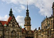 Building Exterior Metal Prints - Palace Square in Dresden Metal Print by Christine Till