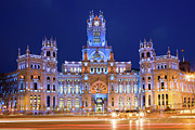 Travel Sightseeing Prints - Palacio de Comunicaciones in Madrid Print by Artur Bogacki