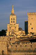 Southern France Metal Prints - Palais des Papes en Avignon. Metal Print by Bernard Jaubert