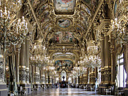 Opera House Framed Prints - Palais Garnier Grand Foyer Framed Print by Alan Toepfer