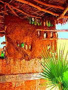 Michael Metal Prints - Palapa and Palm by Michael Fitzpatrick Metal Print by Olden Mexico