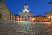 Town Clock Tower Posters - Palazzo Comunale Poster by Rob Tilley