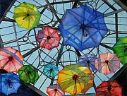Parasols Paintings - Palazzo Parasols by Judy Mercer