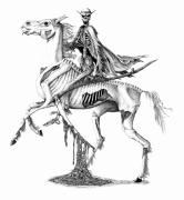 Grim Drawings - Pale Rider by Emma Spears