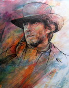 Clint Paintings - Pale Rider by Rik Ward