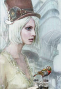 Alternate Prints - Pale Steampunk Print by Jane Schnetlage