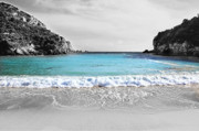Corfu Prints - Paleokastritsa beach Corfu Print by Paul Cowan