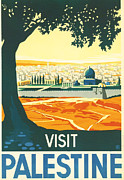 Jerusalem Digital Art Metal Prints - Palestine Metal Print by Nomad Art And  Design