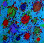 Contemporary Art Originals - Palette of Turtles by Patti Schermerhorn