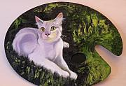 Cat Picture Framed Prints - Palette Pal Framed Print by Susan A Becker