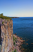 State Park Digital Art Posters - Palisade Head Cliffs Poster by Bill Tiepelman