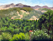 Calistoga Painting Posters - Palisades from Lerne Poster by Char Wood