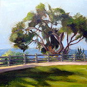 Santa Monica Paintings - Palisades Park in Santa Monica  by Mohita Bhatnagar