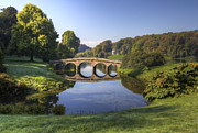 Bambers Prints - Palladian Bridge at Stourhead. Print by Clare Bambers