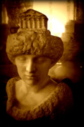Woman Head Sculpture Prints - Pallas au Parthenon Print by Susie Weaver