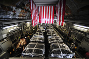 Pallet Framed Prints - Pallets Of Cargo Inside Of A C-17 Framed Print by Stocktrek Images