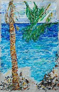 Beach Photograph Paintings - Palm 06 by Bradley Bishko