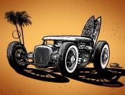 Palm Beach Print by Bomonster