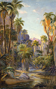 Canyons Painting Prints - Palm Canyon Print by Lewis A Ramsey