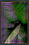 Florescent Posters - Palm Leaves Poster by Mindy Newman