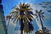 Roof Mixed Media Prints - Palm Mural Print by Gwyn Newcombe