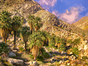 Canyons Paintings - Palm Oasis in Late Afternoon by Dominic Piperata