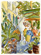 St Thomas Prints - Palm Passage Print by Pat Katz