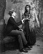 Fanciful Metal Prints - PALM-READING, c1910 Metal Print by Granger
