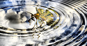 Reflection In Water Prints - Palm Reflections Print by Cheryl Young