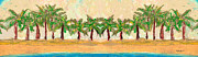 Hawaiian Art Pastels Prints - Palm Row Print by William Depaula
