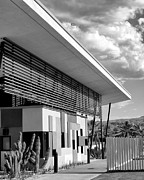 Animal Shelter Art - PALM SPRINGS ANIMAL SHELTER BW Palm Springs by William Dey